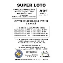 SUPER LOTO - OB Tennis & OB Badminton - 23 mars 2019