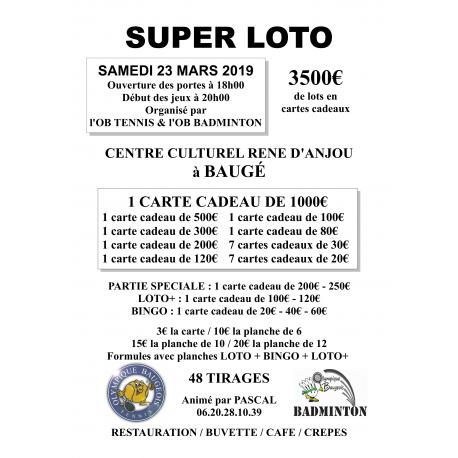 SUPER LOTO - 23 mars 2019