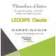 Chambres d'hôtes - Claude LEQUIPE