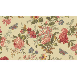"Tissu ""Bisque"" collection Lit de roses"