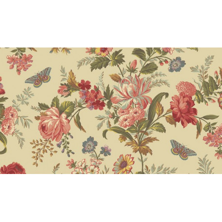 "Tissu ""Bisque"" collection Lit de roses"