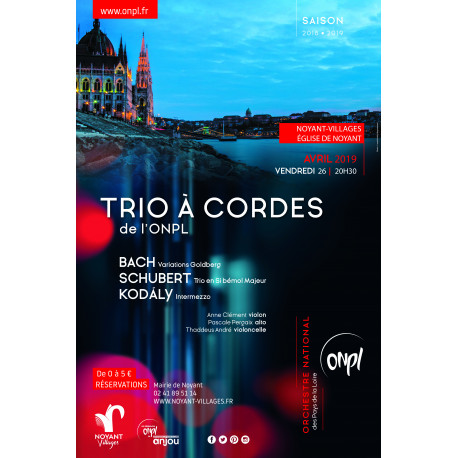 Concert trio à cordes ONPL - Tarif plein