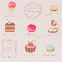 """Tissu """" macarons"""" - YUWA"""