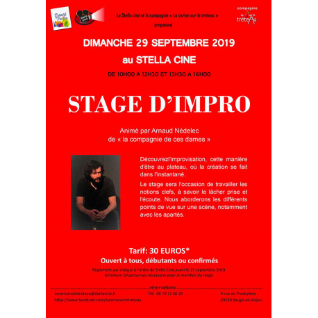 Stage d'improvisation - 29 SEPTEMBRE 2019