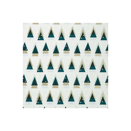 Tissu Sapin graphique collection Noël RICO DESIGN