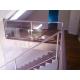 escalier inox et verre